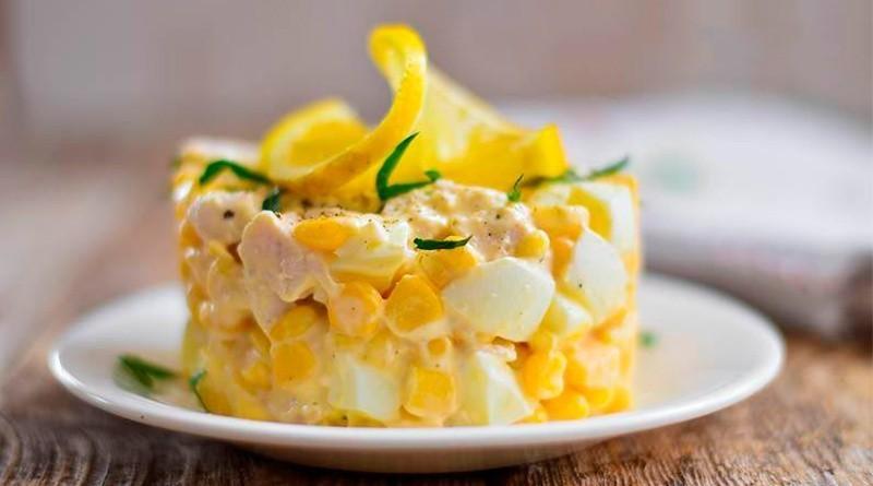Салат из яиц с кукурузой