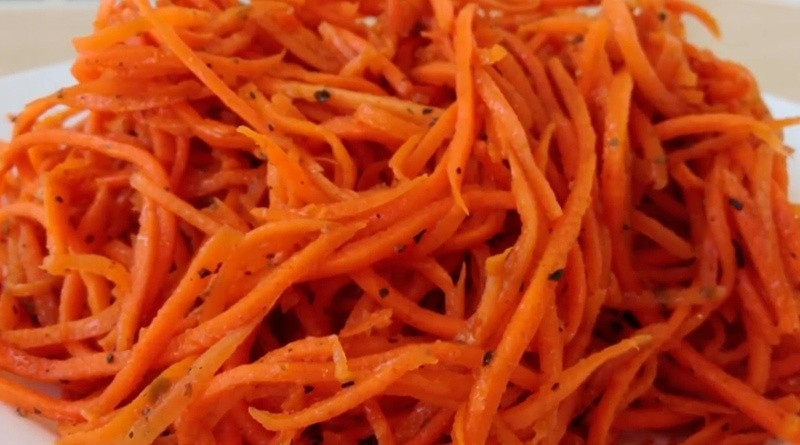 Морковь по-корейски. Рецепт №1
