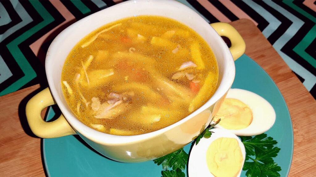 Суп с яичным блинчиками