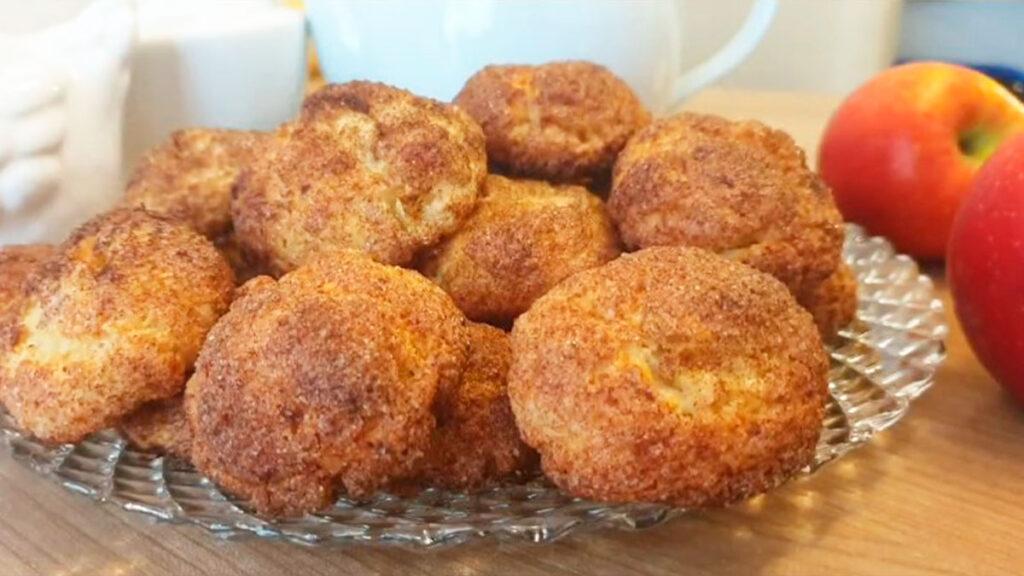 Творожное печенье с яблоками на растительном масе