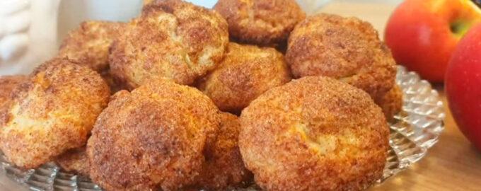 творожное печенье на растительном масле с яблоками