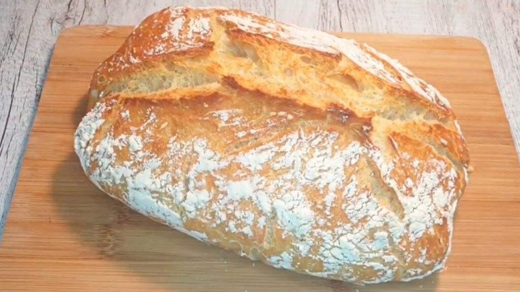 Домашний хлеб без замеса и опары