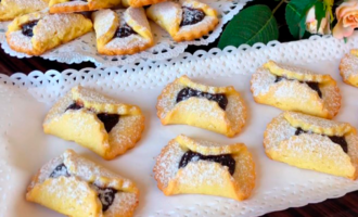 печенье песочное с начинкой из варенья